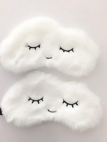 """საძილე ნიღაბი """"თოვლის გუნდა"""" (1pcs white)"""